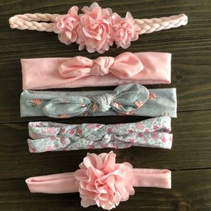 5pk! Carter's Baby Girl headbands